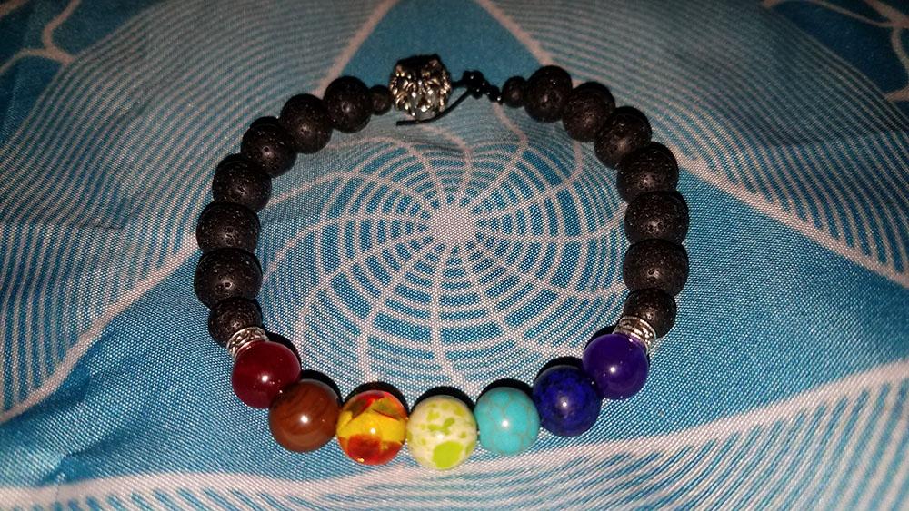 Lion Lava Stone Chakra Bracelet