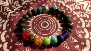 Owl Lava Stone Chakra Bracelet